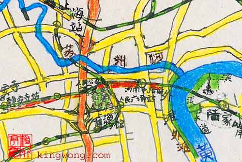 Shanghai city map detail