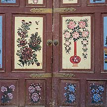 Picture of 吐鲁番 - 二堡乡大门 Tulufan (Turfan) - Erabaoxiang decorated doors